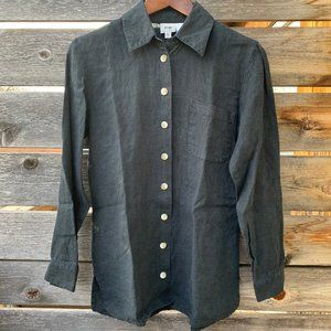 Midweight Linen Button Down with Shell Buttons